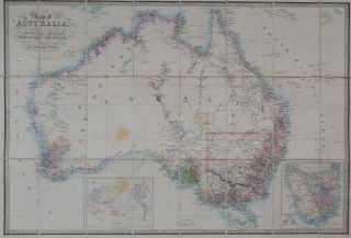 Map of Australia. James Wyld