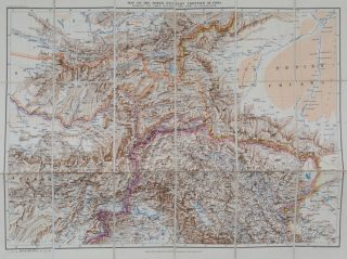 Map of the North Western Frontier of India. E. Stanford