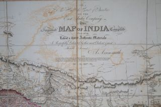 Map of India. A. Arrowsmith.